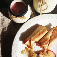 Apple and Onion Baked Taquitos