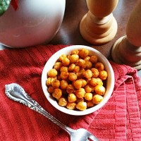 Roasted Pizza Chickpeas