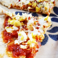 Tortilla Breakfast Pizza