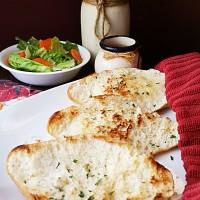 Pan-Grilled Garlic Bread